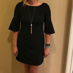 Black Vince Camuto bell sleeve dress